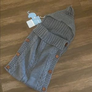 Other - Hooded Cable-Knit Infant Sleeping Bag NWT